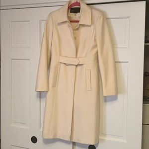 Belted Off White Trench Coat